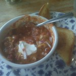 Life-saving Lunch: Chili & Garlic Bread