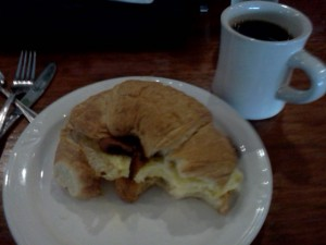 Bacon-Egg-Cheese Croissant at Cafe Eclectic